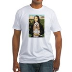 Mona Lisa / Cocker Spaniel Fitted T-Shirt