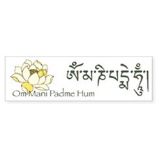 Mantra: Om Mani Padme Hum Bumper Car Sticker