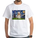 Spring /Cocker Spaniel (buff) White T-Shirt