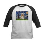 Spring /Cocker Spaniel (buff) Kids Baseball Jersey