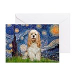 Spring /Cocker Spaniel (buff) Greeting Card