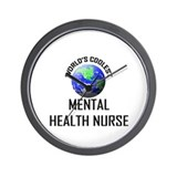 World's Coolest MENTAL HEALTH NURSE Wall Clock