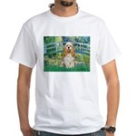 Bridge / Cocker Spaniel (buff) White T-Shirt