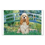 Bridge / Cocker Spaniel (buff) Sticker (Rectangle)