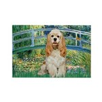 Bridge / Cocker Spaniel (buff) Rectangle Magnet (1