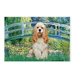 Bridge / Cocker Spaniel (buff) Postcards (Package