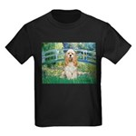 Bridge / Cocker Spaniel (buff) Kids Dark T-Shirt