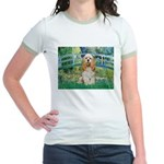Bridge / Cocker Spaniel (buff) Jr. Ringer T-Shirt