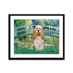 Bridge / Cocker Spaniel (buff) Framed Panel Print