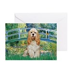 Bridge / Cocker Spaniel (buff) Greeting Cards (Pk