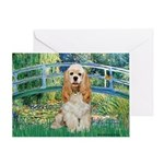 Bridge / Cocker Spaniel (buff) Greeting Card