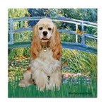 Bridge / Cocker Spaniel (buff) Tile Coaster