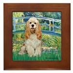 Bridge / Cocker Spaniel (buff) Framed Tile