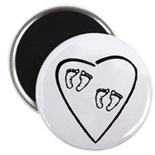 "Twins are my heart 2.25"" Magnet (10 pack)"