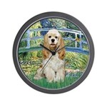 Bridge / Cocker Spaniel (buff) Wall Clock
