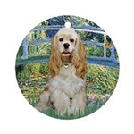 Bridge / Cocker Spaniel (buff) Ornament (Round)