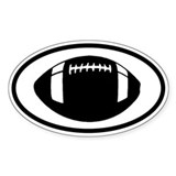 Football Oval Decal
