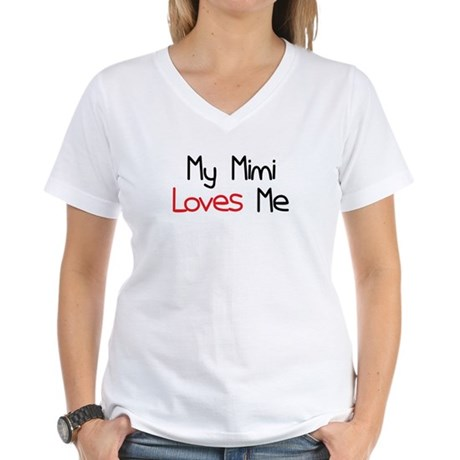My Mimi Loves Me Women's V-Neck T-Shirt