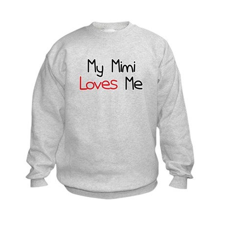 My Mimi Loves Me Kids Sweatshirt