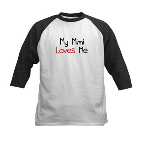 My Mimi Loves Me Kids Baseball Jersey