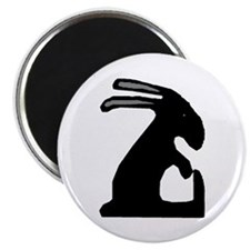 "Folk Art Easter Bunny 2.25"" Magnet (100 pack)"