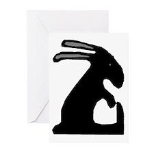 Folk Art Easter Bunny Greeting Cards (Pk of 20)