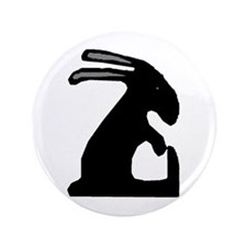 "Folk Art Easter Bunny 3.5"" Button (100 pack)"