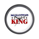 MUHAMMAD for king Wall Clock
