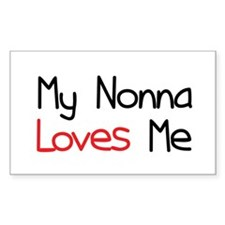 My Nonna Loves Me Rectangle Decal