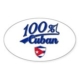 100% Cuban Oval Decal