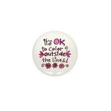 Color Outside the Lines Mini Button (100 pack)