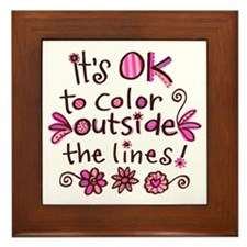 Color Outside the Lines Framed Tile