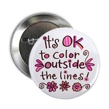"Color Outside the Lines 2.25"" Button (10 pack)"