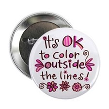 "Color Outside the Lines 2.25"" Button (100 pack)"