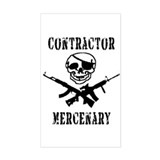 Mercenary Contractor - Rectangle Decal