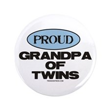 "Grandpa of Twins - 3.5"" Button"