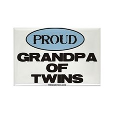 Grandpa of Twins - Rectangle Magnet