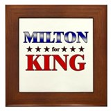 MILTON for king Framed Tile