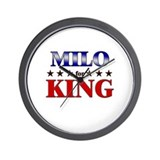 MILO for king Wall Clock