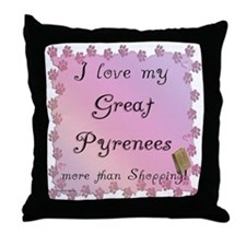 Pyrenees Shopping Throw Pillow