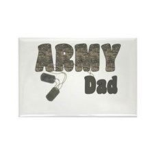 Army Dad (tags) Rectangle Magnet