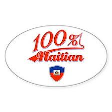 100% Haitian Oval Decal