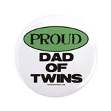 Dad of Twins - 3.5&quot; Button