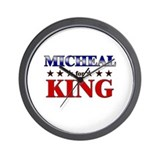 MICHEAL for king Wall Clock