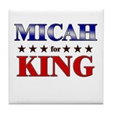 MICAH for king Tile Coaster