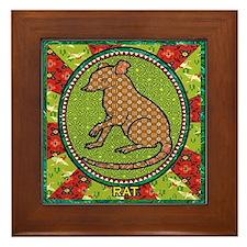 Year of the Rat 2 Framed Tile