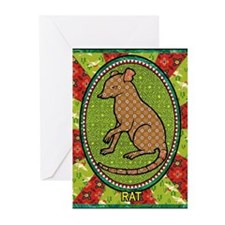 Year of the Rat 2 Greeting Cards (Pk of 10)