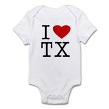 I Love Texas (TX) Infant Creeper