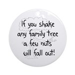 Shaking Family Tree (Black) Ornament (Round)