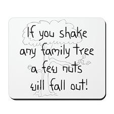 Shaking Family Tree (Black) Mousepad